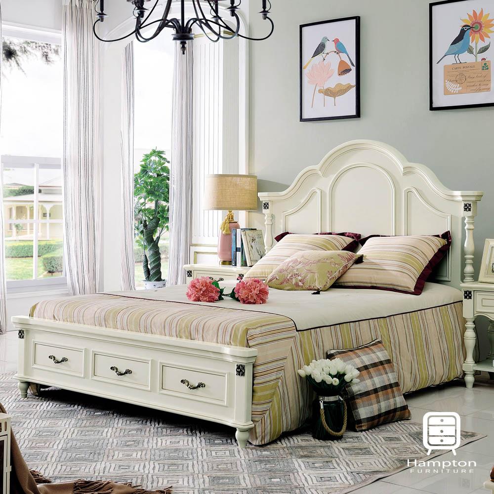 漢妮Hampton米盧斯系列法式5尺雙人床架-167x212x147cm