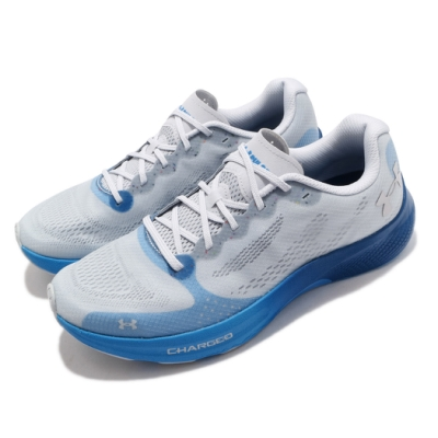 UA 慢跑鞋 Charged Pulse 運動 男鞋 輕量 透氣 舒適 避震 路跑 健身 灰 藍 3023020107