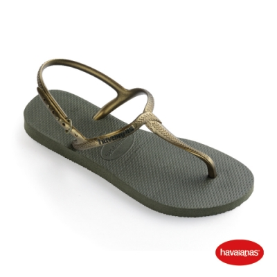 Havaianas 哈瓦仕 拖鞋 夾腳拖 人字拖  巴西 女鞋 橄欖綠 4144756-4896W Twist