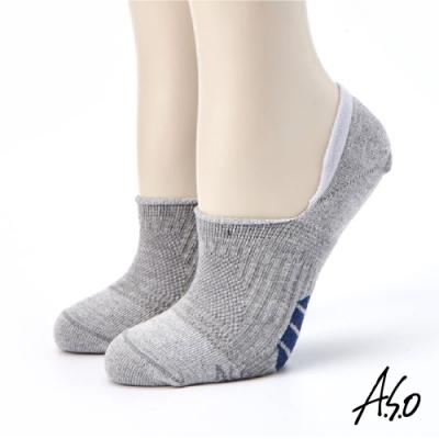 A.S.O長效抑菌系列-隱形襪-灰色