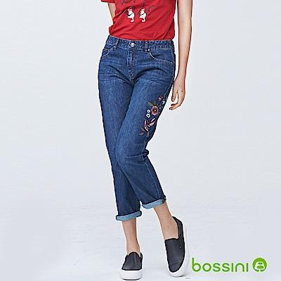 bossini女裝-舒適牛仔9分褲03靛藍