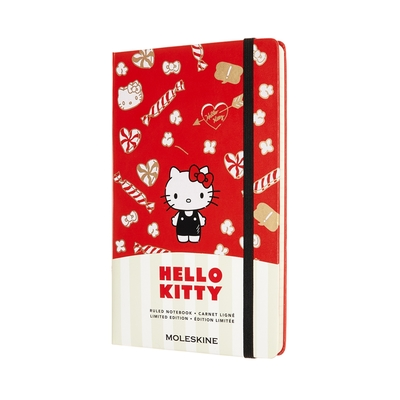 MOLESKINE HELLO KITTY限量筆記本(L型) - 紅色橫線