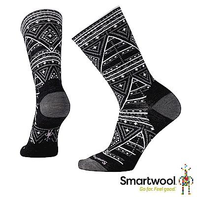 SmartWool 女 幾何圖形中長襪 黑色