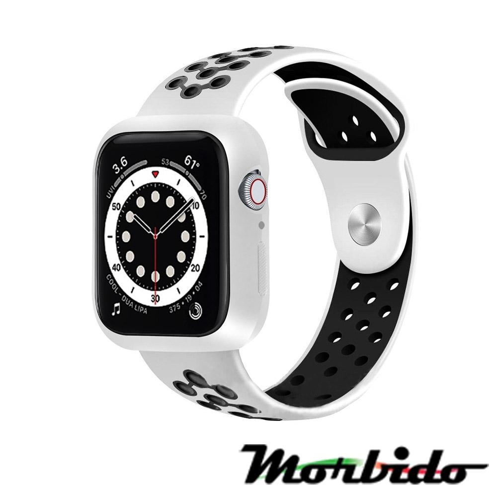 Morbido蒙彼多Apple Watch 6/SE 40mm透氣矽膠運動錶帶 黑白