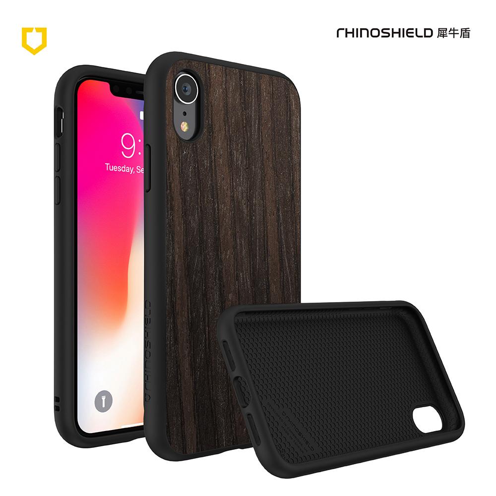 犀牛盾iPhone XR Solidsuit木紋防摔背蓋手機