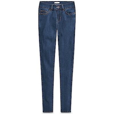 101原創 基本修飾彈力牛仔褲-藍