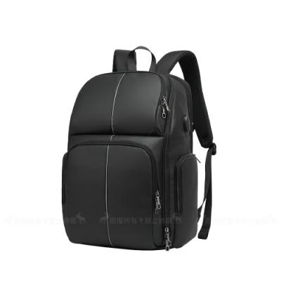 [17.3吋] 商務旅行 夜行反光條 舒適背墊設計 可手提/後背 平板筆電背包