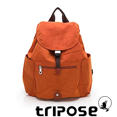 tripose MEMENTO系列微皺尼龍經典輕量後背包(大) 鮮橙橘