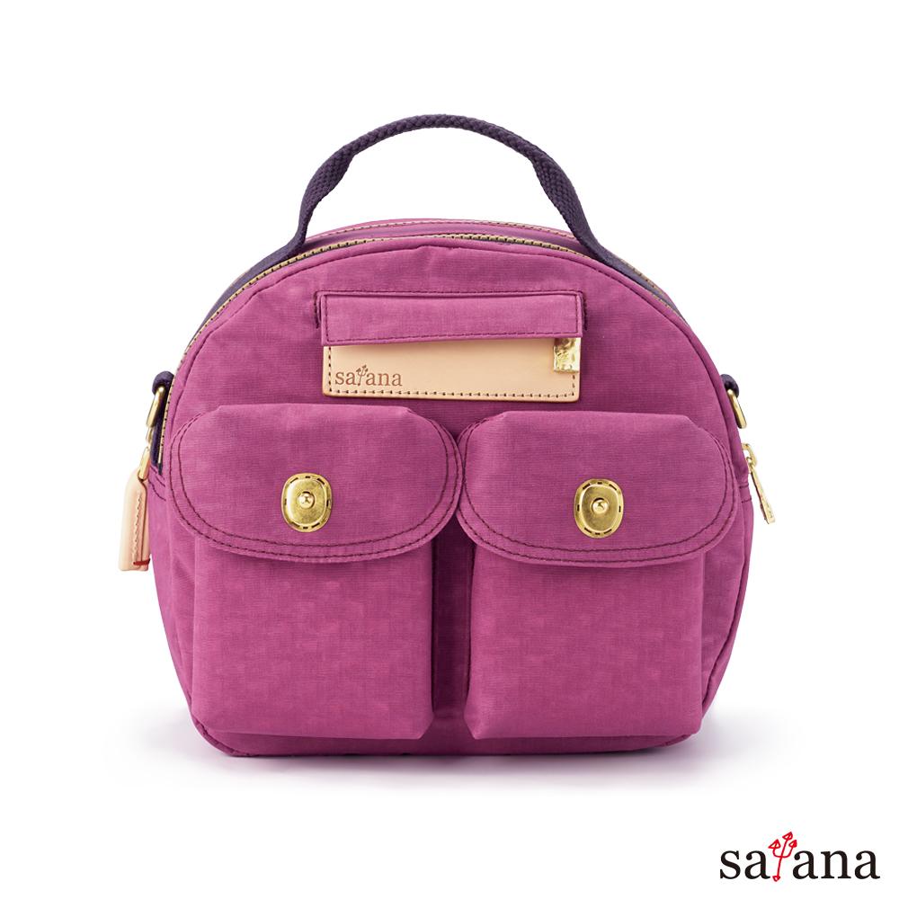 satana - Soldier Mini 輕旅行後背包/保齡球包 - 霧紫紅