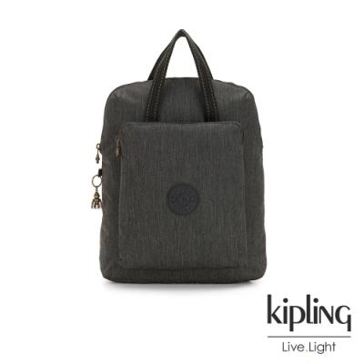Kipling 復古質感丹寧黑手提後背電腦公事包-KAZUKI
