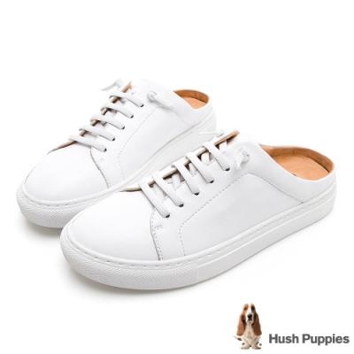 Hush Puppies Greenwich 女穆勒休閒鞋-白色