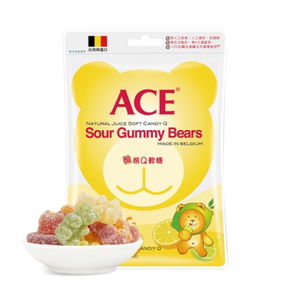 【ACE】比利時進口 酸熊Q軟糖 隨手包(48g/袋)