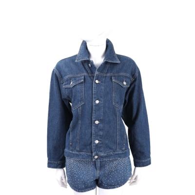 Chiara Ferragni Flirting 眨眼水晶鑽飾藍色丹寧牛仔夾克