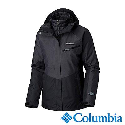 Columbia哥倫比亞 女款-Omni-HEAT鋁點保暖防水兩件式化纖外套-黑色