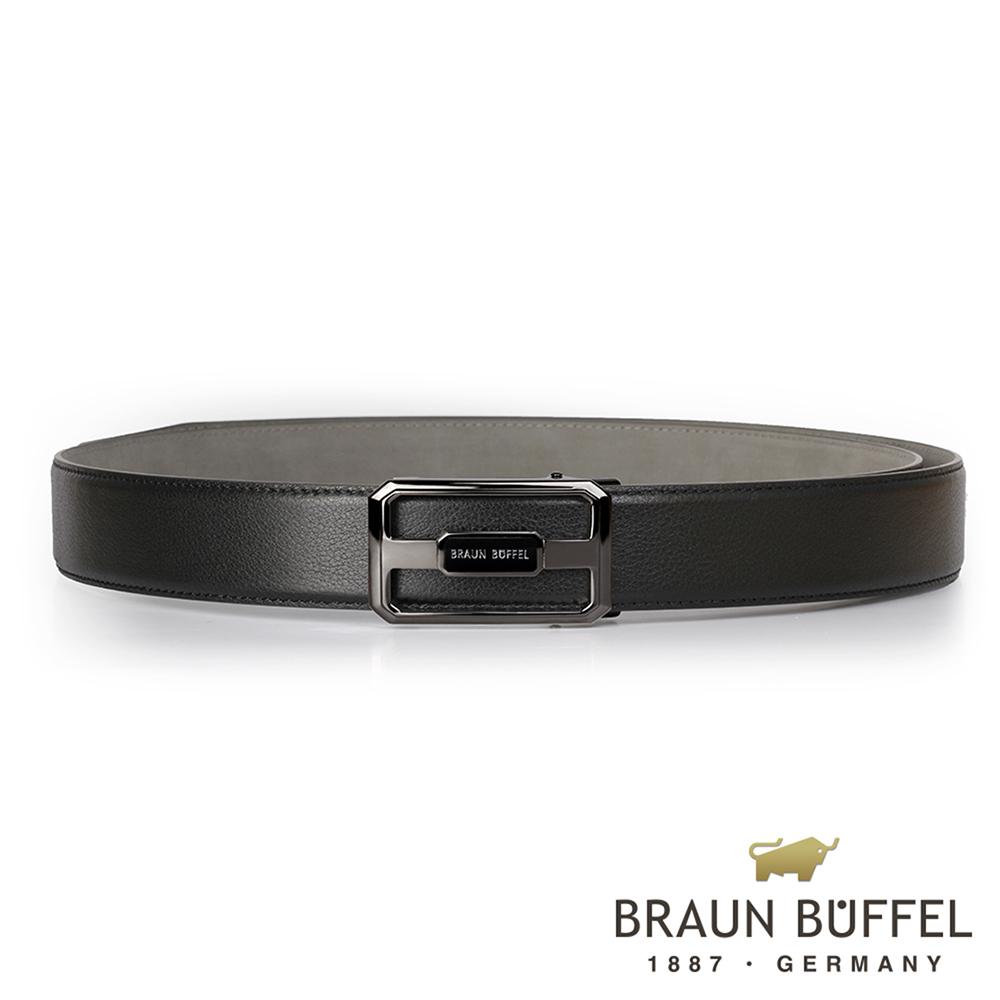 BRAUN BUFFEL - 洗鍊簡約紳士自動扣皮帶 - 鎗色