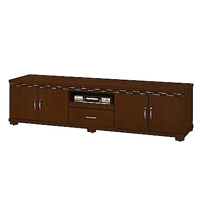 綠活居 盧比時尚7尺木紋電視櫃/視聽櫃-208.5x48.3x54cm-免組