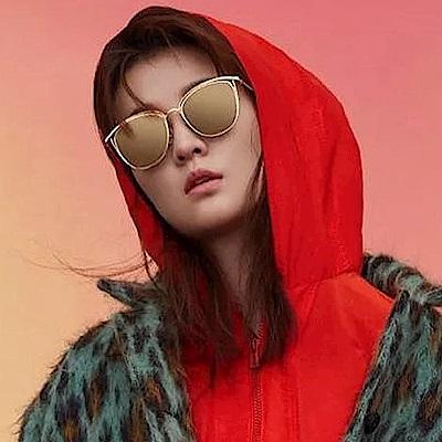SEROVA偏光太陽眼鏡 流行百搭款/金-淡黃水銀 #SS9031 C1