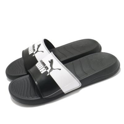 Puma 拖鞋 Popcat 20 Split 男女鞋 陰陽雙色 夏日 外出 輕便 黑 白 38067401