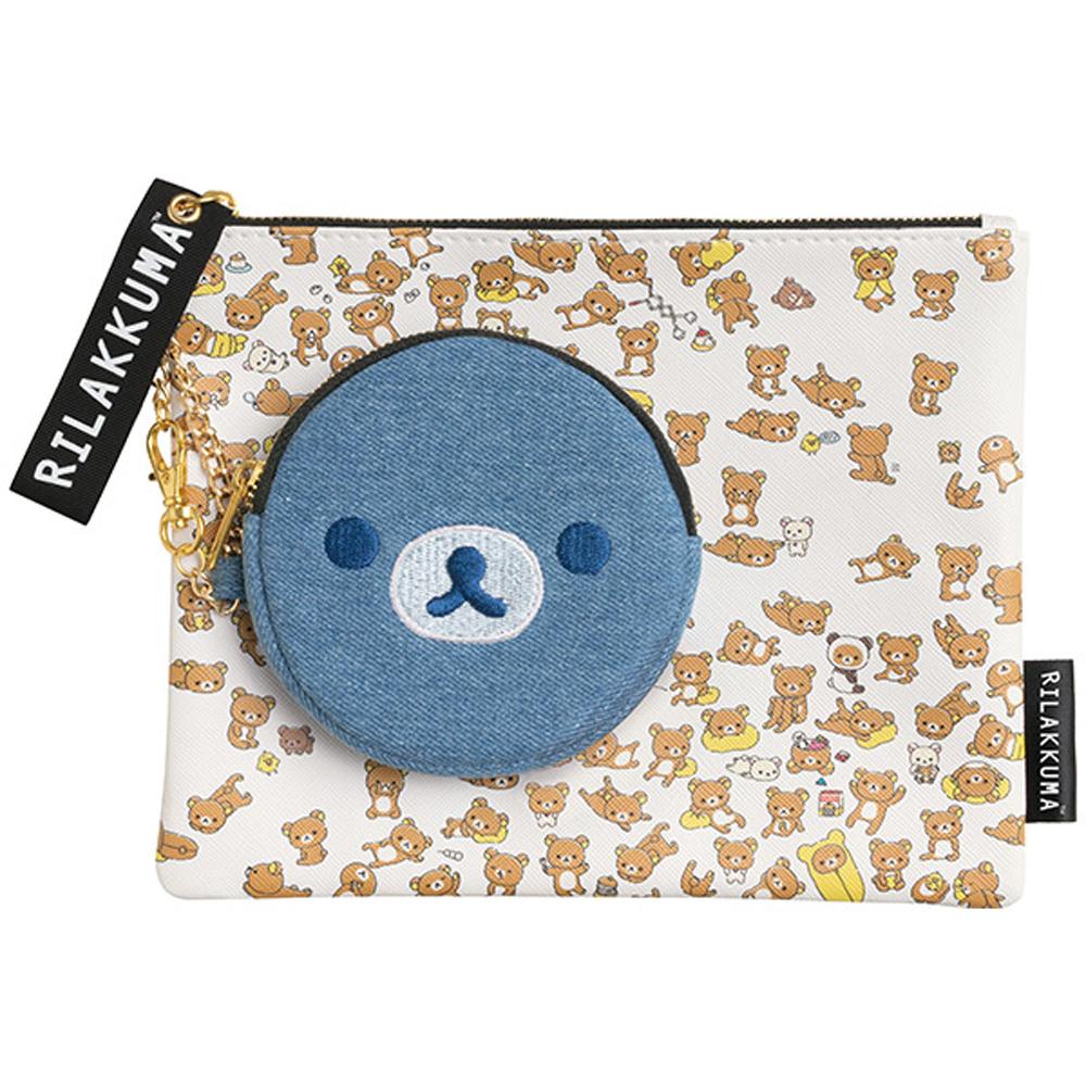 拉拉熊小小的懶熊系列大小收納袋組。懶熊 San-X