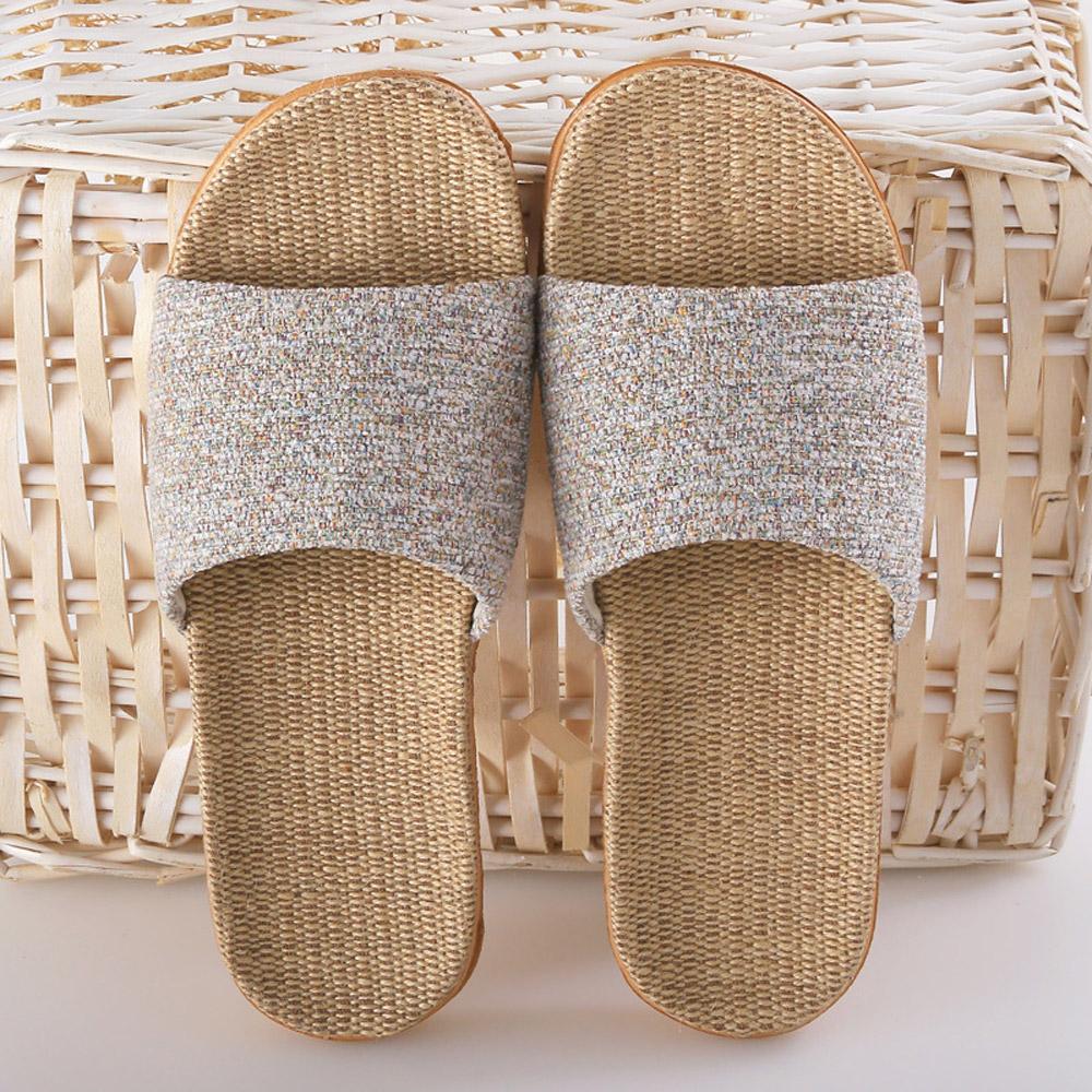 日創優品 素色自然亞麻止滑拖鞋-多色任選 product image 1
