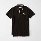 AF a&f Abercrombie & Fitch 短袖POLO黑色 1341
