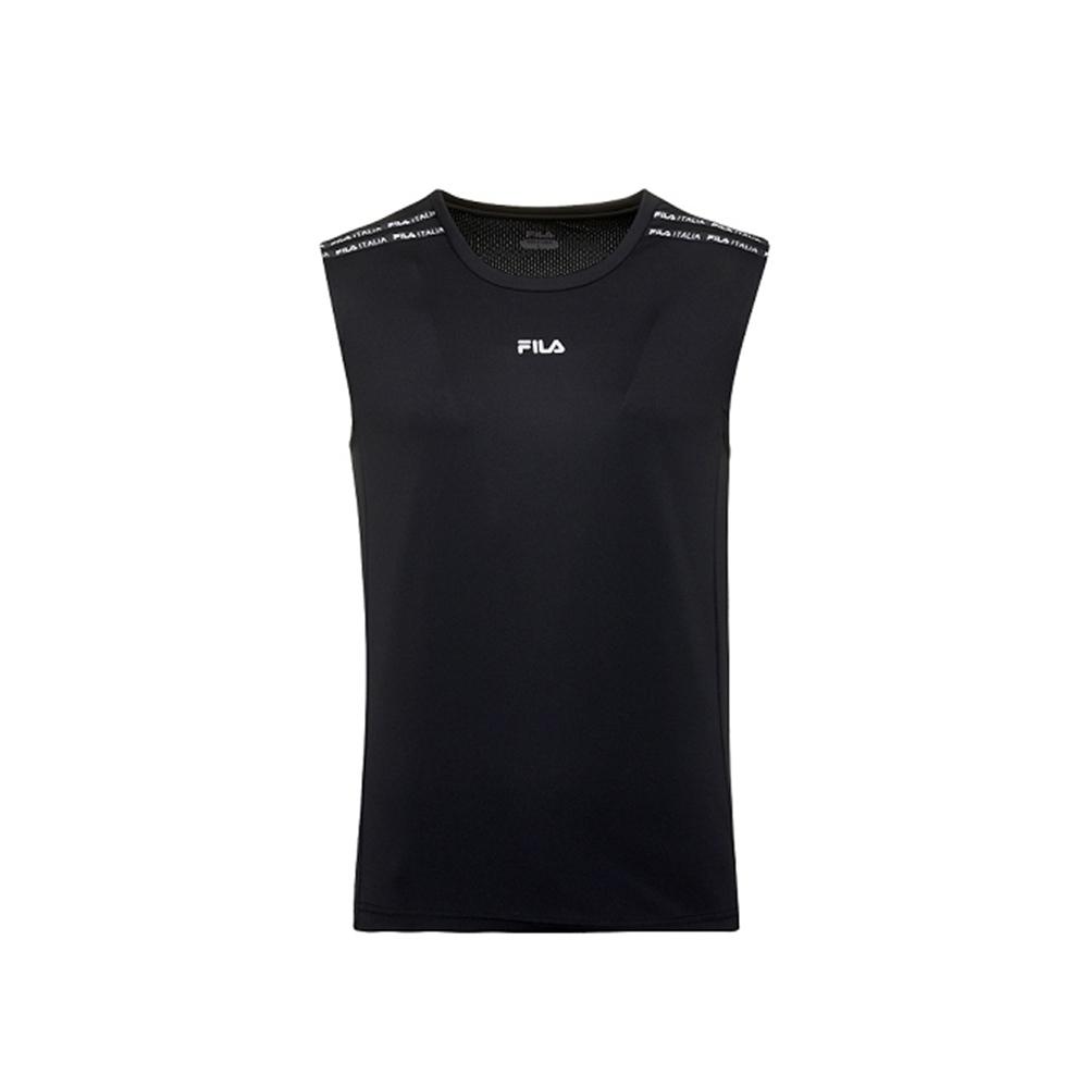 FILA 男吸濕排汗抗UV背心-黑 1TKV-1300-BK