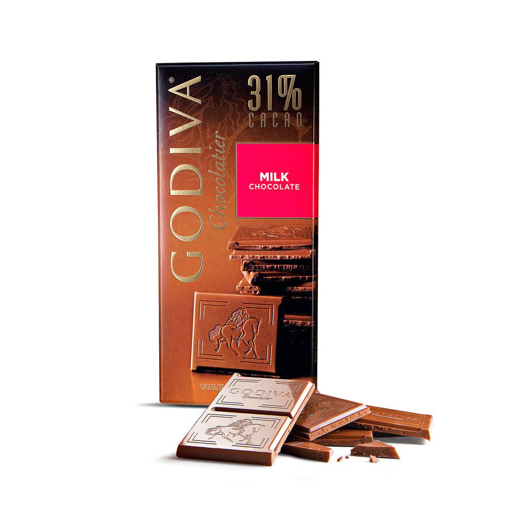 GODIVA 31%牛奶巧克力(100g/片)