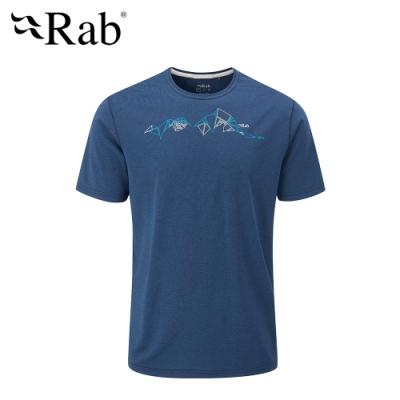 【英國 RAB】Mantle Tessalate Tee 圓領快乾短袖T恤 男款 夜落藍 #QBL14