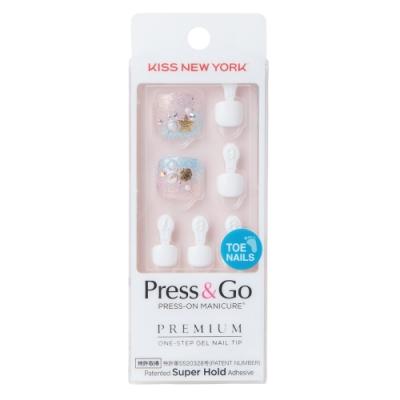 KISS New York-Press&Go足部指甲貼片-波浪啊波浪啊(BHJT08J)
