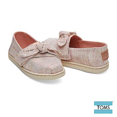 TOMS 優雅蝴蝶結帆布休閒鞋-幼童款