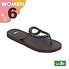 SANUK 女款US6 鉚釘人字拖鞋(咖啡色)