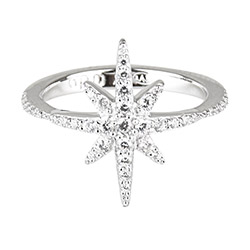 apm MONACO METEORITES系列晶鑽鑲飾閃耀繁星鑲鋯純銀