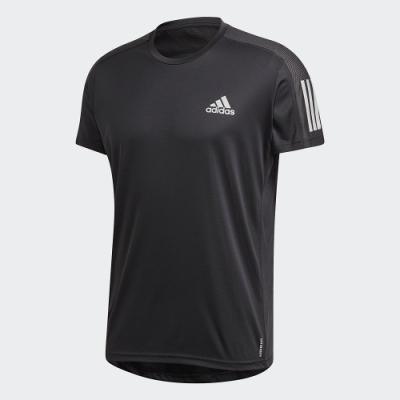 adidas 上衣 短袖上衣 運動 慢跑 健身 男款 黑 FS9799