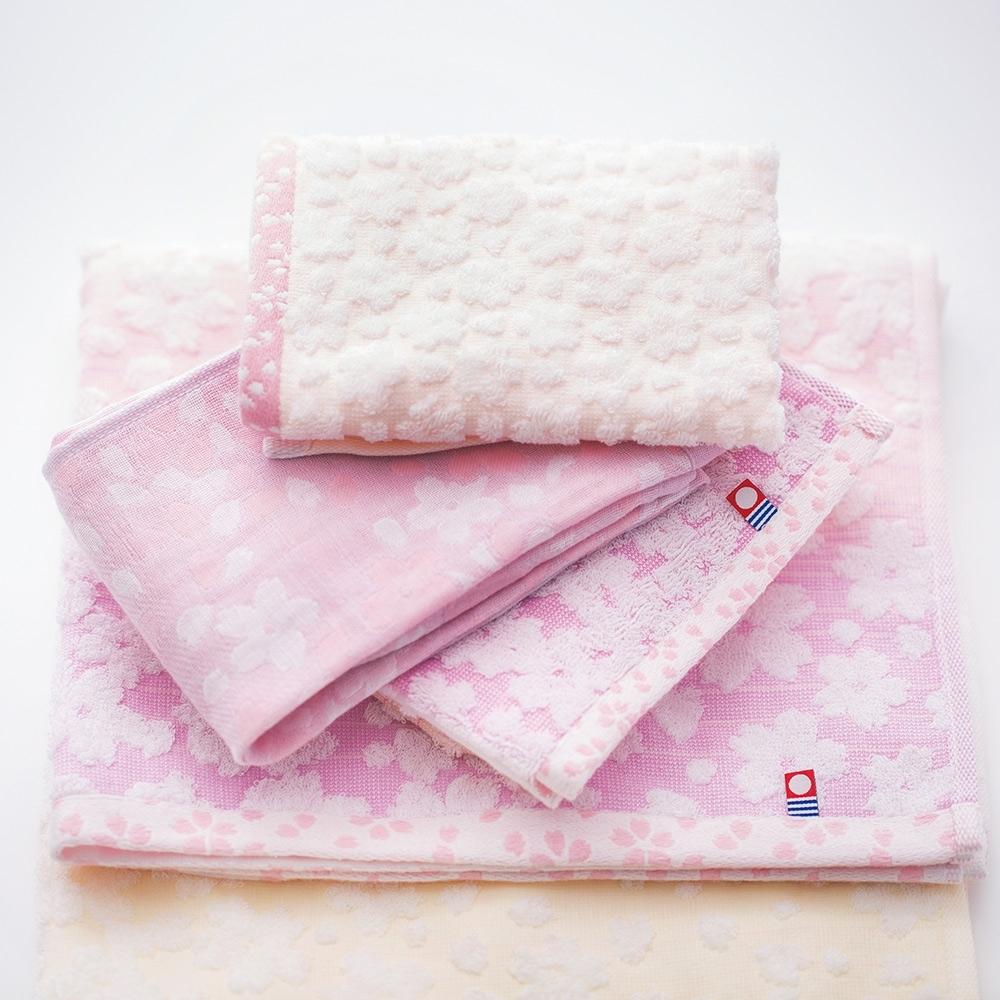 日本派迪 今治有機綿經典櫻花毛巾-粉