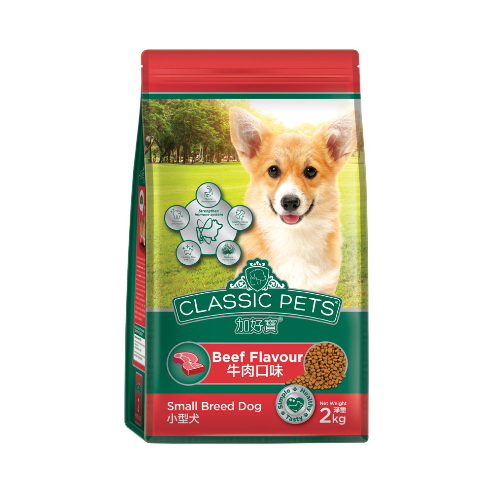 Classic Pets 加好寶小型犬乾狗糧 - 牛肉口味 2kg