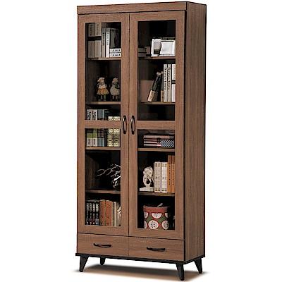 凱曼  提亞娜2.7尺淺胡桃下抽書櫥/書櫃