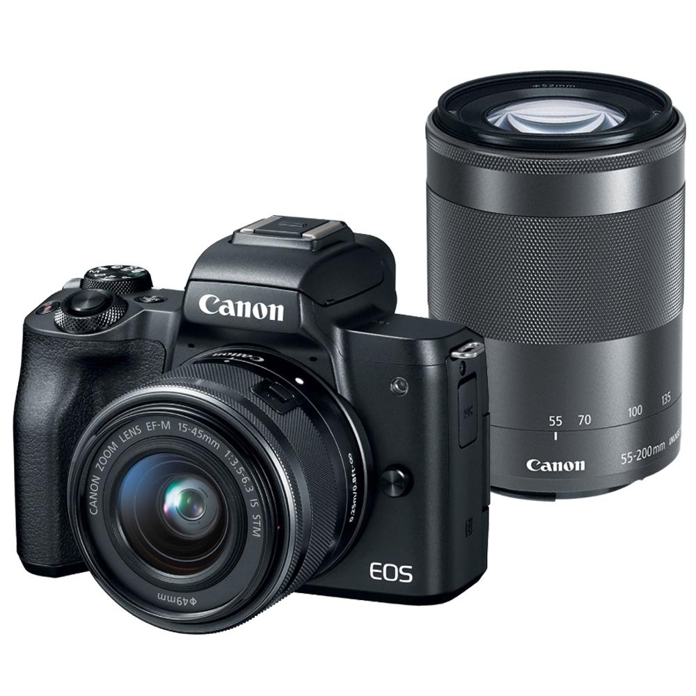【快】CANON EOS M50+15-45mm+55-200mm 雙鏡組*(中文平輸)