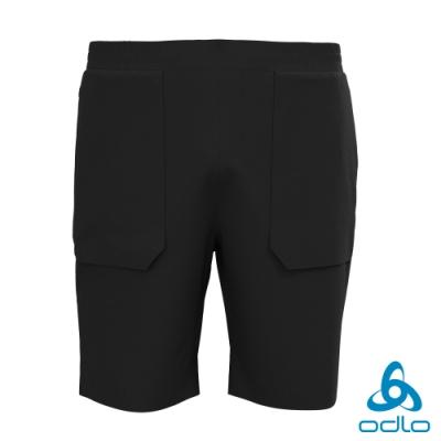 總代理●Odlo 男 HALDEN 防潑水 休閒彈性短褲 黑