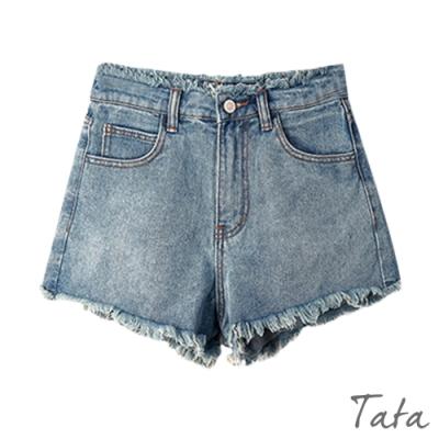 抽鬚牛仔短褲 TATA-(S~L)
