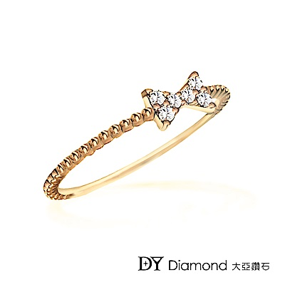 DY Diamond 大亞鑽石 L.Y.A輕珠寶 18黃K金 永恆鑽石線戒