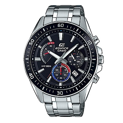 EDIFICE 極速時尚魅力俐落帥氣指針腕錶(EFR-552D-1A3)黑框47mm