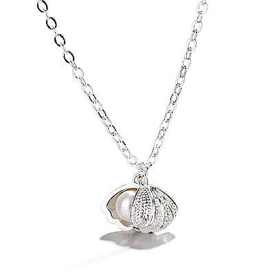 iSFairytale伊飾童話 海之珍珠貝 絲光磨砂銅電鍍項鍊