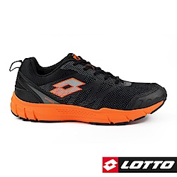 LOTTO 義大利 男 極速SP300輕量跑鞋 (黑橘)