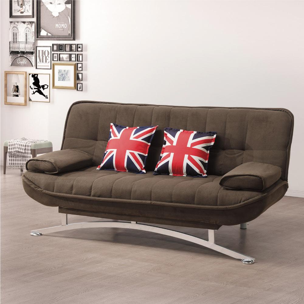 文創集 迪比棉滌布沙發床(二色+展開式機能設計)-190x90x88cm-免組