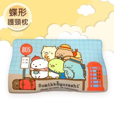 角落小夥伴 慢回彈蝶形護頸枕 記憶枕 兒童枕 釋壓枕 50x30cm(枕套可拆洗)-出遊候車中