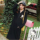 冬季旅行系列~KITTY高領拉鍊造型長袖洋裝-OB嚴選