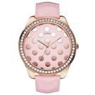 GUESS 繽紛派對晶鑽時尚腕錶(粉紅)-W0258L3-51mm