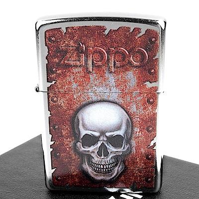 ZIPPO 美系~Rusted Skull-鏽蝕骷髏圖案打火機