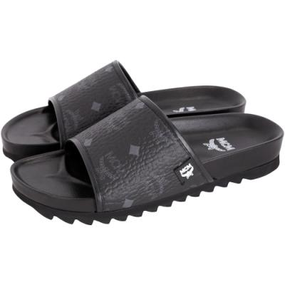[時髦老花款 限降69折]MCM Slides 經典圖騰涼鞋/拖鞋(男款)