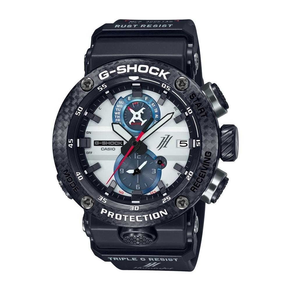 CASIO卡西歐 G-SHOCK 電波藍牙太陽能電力 HondaJet聯名手錶 GWR-B1000HJ-1A /46.4mm